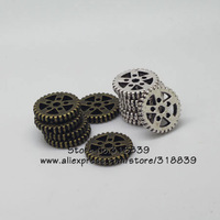 (20 pieces/lot)  19mm Antique Metal Alloy Thick Machinery Gear Pendant Jewelry Charm Jewelry Gear Findings 7643