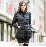 2014 new women's down jacket collar shrug thin waist and long sections Slim Down YRF104 R1P
