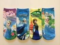 2014 NEW Frozen Socks children's socks Romance Baby Girls Cartoon Socks COTTON + Polyester For 4-12Age