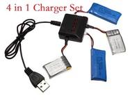 4 In 1 X4 Battery Charger for Hubsan X4 H107L H107C H107D WLtoys V977 V930 V202 V252 V939 V933 V955 UDI U816 U816A U830 Rc Parts