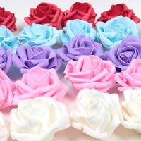 PE DIAMETER 7CM big rose head artificial flower cloth Decorative Flowers wedding flowers 100pcs /lot