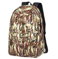 "Fresh style Nylon Backpack camouflage Rucksack Men's travel bags Women backpack zipper closure 15"" laptop bag"