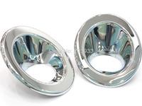 FREE SHIPPING 2PCS Chrome Fog Lamp Light Cover Trim  Freelander 2 LR2 Front Bumper