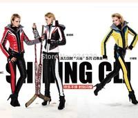 CLJ France Fashion Newest Ofdynamism Sports Series Contrast Color Patchwork Female Short Design Down Coat Set-sz-W1651