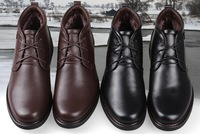 Promotion Special offer 2014 winter men's fur business shoes.men's genuine leather trendy snow boots,free shipping,OKC038