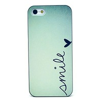 Smile Pattern Hard Case for iPhone 5/5S,free shipping