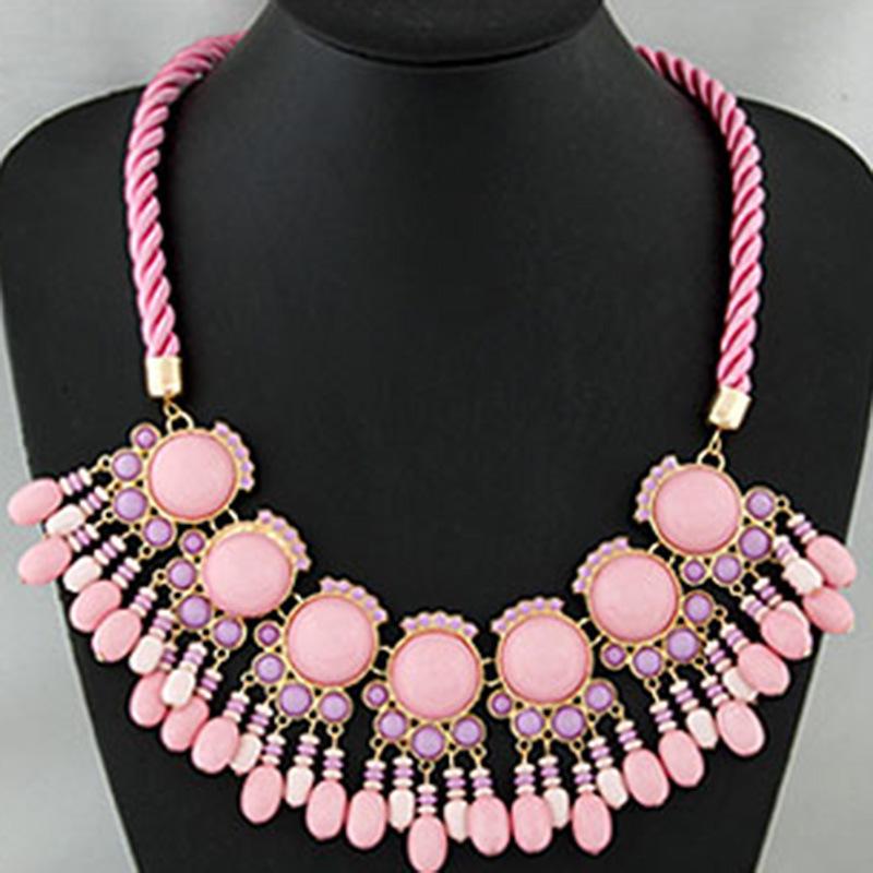 Pink Sector Necklace Max Colar Designer Inspired Brand Boho Chic Gargantilhas Bijuterias Joyas Jewelry Party Dress Acessorios(China (Mainland))