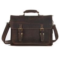 European retro men's handbag 100% genuine leather briefcase messenger bag travel bag men crazy horsehide
