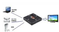 Mini 3 Port HDMI Switch Switcher HDMI Splitter HDMI Port for HDTV 1080P Vedio,Free Shipping Free Shipping