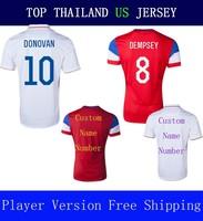 A+++ Player Version Thailand DEMPSEY Jersey 2014 White DONOVAN Men 2014 Red Soccer Shirt Julian Green