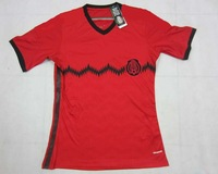 AAA+++2014 player version Mexico away red/black best quality soccer jersey, Mexico soccer jerseys, Embroidery logo, size:s-xl