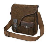 Men Canvas Messenger Bags Large Capacity Mutifunctional Vintage School Student Book Bag Shoulder Cross Body Ipad Pocket 2 Colors