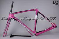 2014 New Design DI2/mechanical carbon De rosa 888 D2 pink 56cm superking frame BSA or OEM complete bike ultegra groupset