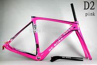 2014 New Design DI2/mechanical carbon De rosa 888 D2 pink 52cm superking frame BSA or OEM complete bike ultegra groupset