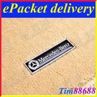 2 PCS Floor Mat Carpet Aluminum Alloy Metal Emblem Badge For Mercedes Benz Free ePacket Shipping
