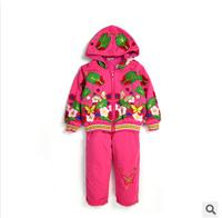 three pieces sets of newborn baby set Children Set thickened newborn baby girls winter suits tshirt + jacket + pants 0-2t