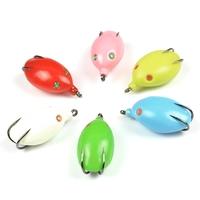 Free shipping,6pcs/lot, Fishing Lure small egg Snakehead killer Soft hook bait plastic fishing lure set, 16g 50mm