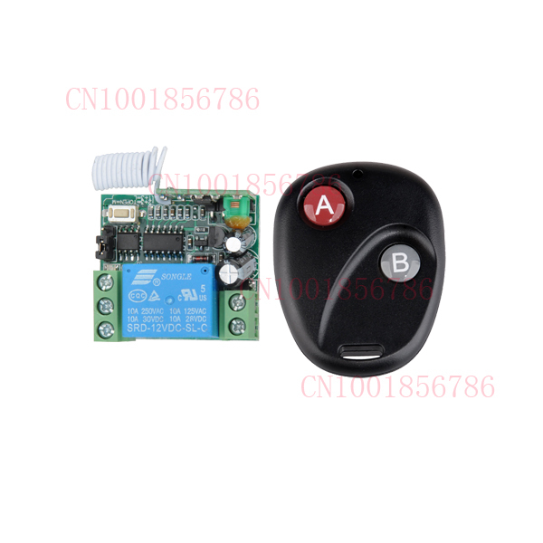 Free Shipping DC 12V 10A 1CH Wireless RF Remote Control Switch Transmitter+ Receiver For Access/door System(China (Mainland))