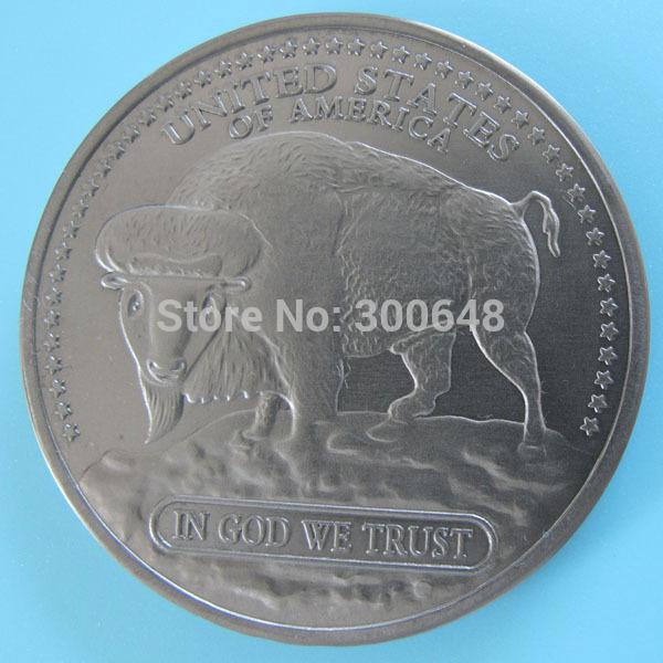 CMC MINT promotion A68 1 oz .999 Titanium Buffalo Coin Indian(China (Mainland))