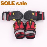4pcs/set Large Pet Dog outdoor sports shoes winter Big dog boots Prevent slippery wear-resisting Shoes for dogs Red Black 1#--8#