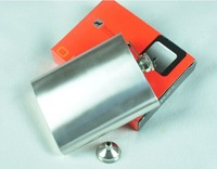 portable hip flask 18oz stainless steel flask with small metal funnel wholesale free shipping