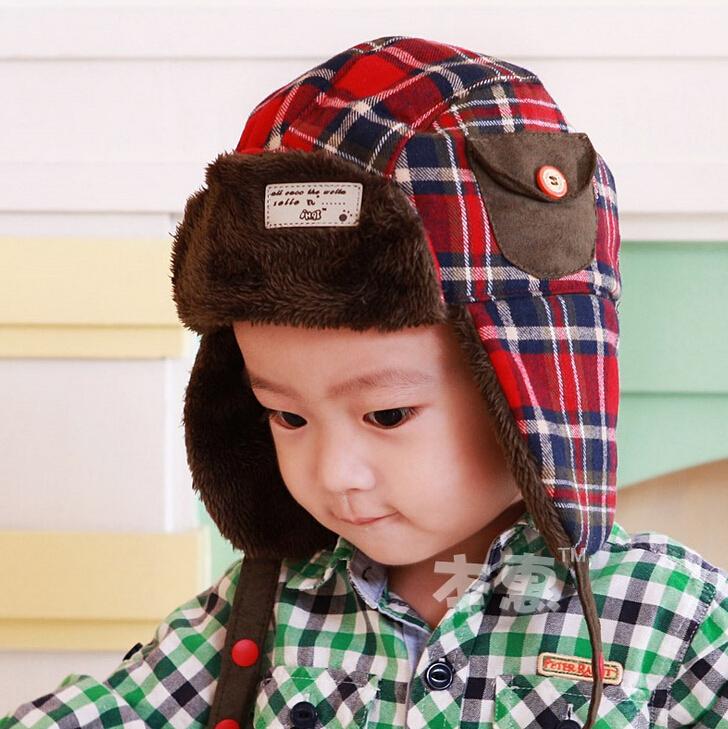 Super 5pcs/lot Fashion baby fur hats winter earmuff warm caps outdoor kid snow hat free shipping(China (Mainland))