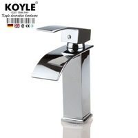 KOYLE - chrome Polished Torneira Banheiro Basin sink waterfall Tap Deck Mounted basin waterfall Faucet. Mixer