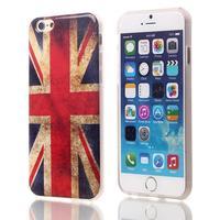 New Vintage UK & USA Flag TPU Back case For apple iphone 6 Phone Case 4.7 inch 10pcs wholesale Free Shipping