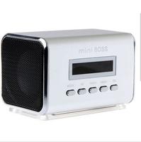Portable HIFI Mini Speaker MP3 Player Amplifier Micro SD TF Card USB Disk Computer Speaker with FM Radio Free Shipping