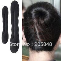 2pcs/set Black Magic Sponge Clip Foam Hair Curler Rolling Tool Free Ship