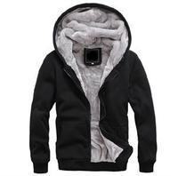 100% brand new winter comfort Brand Men's cotton Fleece hooded sweatshirts men clothing