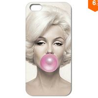 1PC Marilyn Monroe With Bubble Style New Arriving Hard Back Cover Case For Iphone 4 4S 5 5S 5C 6 6Plus