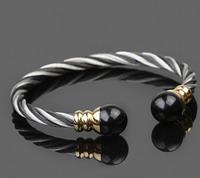 Men Bracelets Bangles Unique Designer 316l Stainless Steel Twist  Bracelets  76D3