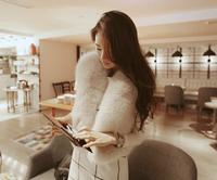 2014 new Fashion women's Faux fur coat solid fur women's winter clothes winter fur vest slim short fur coat on sale