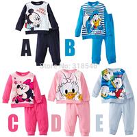 2014 FREE SHIPPING  girls 5sets/lot  long sleeve pajamas children clothing sets girls sleeping wear princess  pajamas