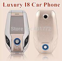 2014 NEW Luxury Flip Car Phone Mini Phone Gold I8 Dual SIM card Dual Screen Fashion Car Key Cell Phone Russin Language/ Keyboard