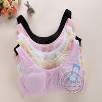 Free shipping New winter girl brand underwear bra student sport underwear 100% cotton without rims bra wholesale