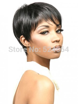 High-Quality-Women-s-Cool-Boy-Cut-Synthetic-Wigs-Short-Straight-Wigs ...