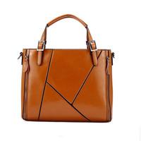 Genuine Leather Handbag Cow Leather Messenger Bag Fashionable Patchwork Shoulder Bag Popular Leather Crossbody Bolsas New Style