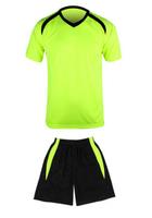 2880fluorescence greenShort sleeve soccer uniform