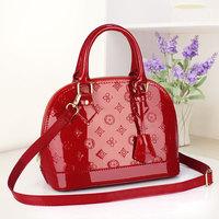 Ms. bag 2014 new European and American fashion handbags patent leather handbag diagonal trumpet shell package parcel shipping