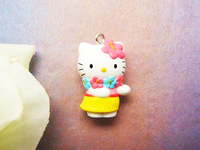 10 pieces Hello Kitty with Hawaiian Charm Pendant Lovely Fashion Gifts ALK824 Wholesale