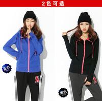 Women Plus Size XL-4XL Casual Warm Thick hoodies Long Sleeve Zip Cardigan Coat Free Shipping d6630