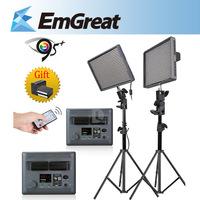 DHL Free Aputure HR672W High CRI 95+ 672PCS 5500K LED Video Light iluminador Led Lamp+Wireless Remote+2M Light Stand P0016253