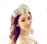 Thousands of colors the bride queen crown tiara European Fairy Queen handmade lace wedding hair accessories