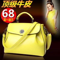 2014 new wave of European and American fashion leather handbag shoulder bag women Messenger bag retro leather messenger bags