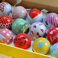Christmas tree ornament Korean creative stationery Happy Ball /containing greeting cards/DIY Christmas Decoration