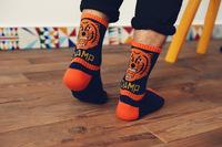 pair Fashion British style the streets of cotton Tiger head socks lovers socks Harajuku socks