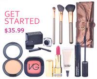 PROMOTION! 2014 women like 7pcs Essential makeup set Tools perfect cosmetics mascara+brush make up kit free shipping