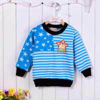 New Cotton Stars Printed Long Sleeve Children Hoodies for Spring Autumn Winter Baby Kids Unisex Jackets Coat Sweatshirts Fleeces